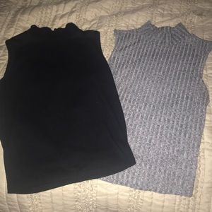 Girl mid - neck tanks-great 4 under button downs